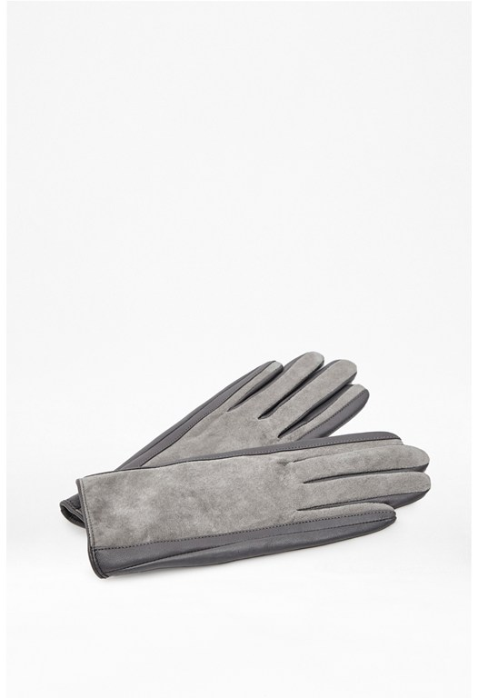 Poppy Suede And Leather Gloves