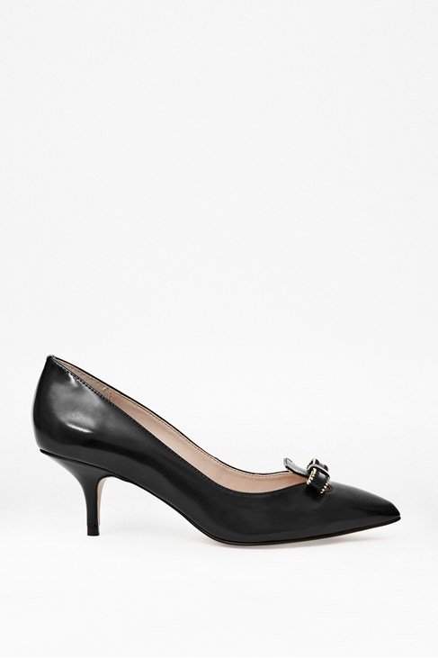 Cindy Patent Leather Kitten Heels