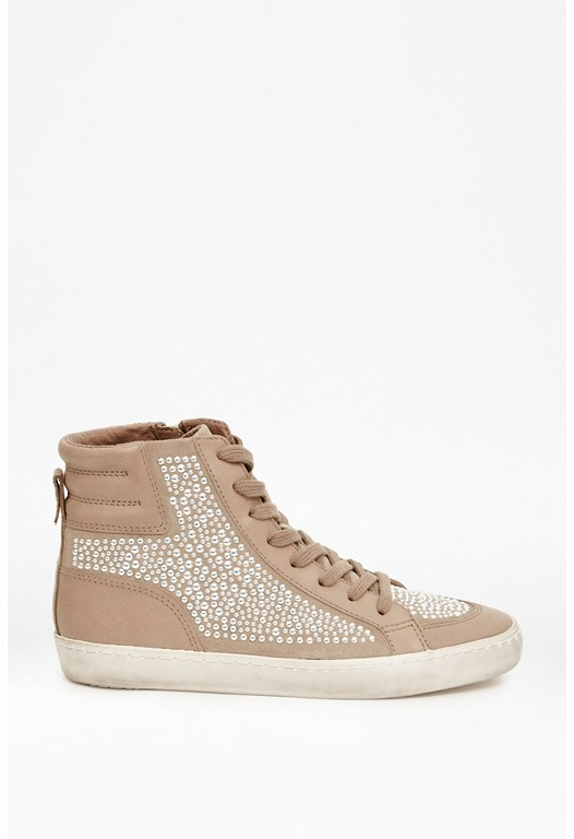 Louise Embellished Suede Trainers