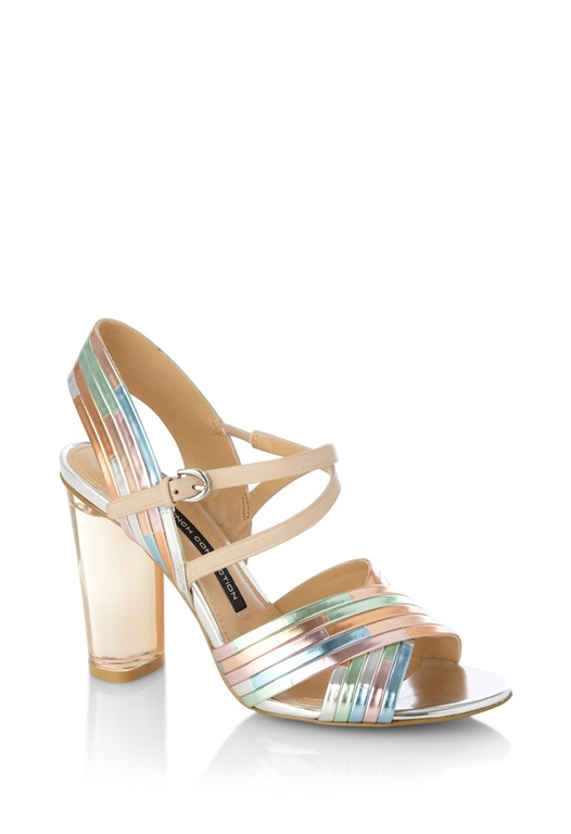 Peggy Mirrored Contrast Sandals