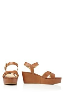 Pia Leather Wedges