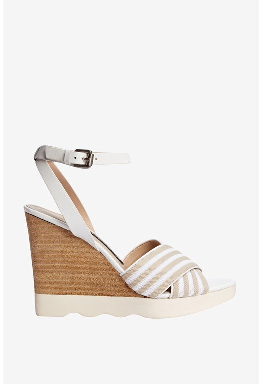 Jane Striped Wedges