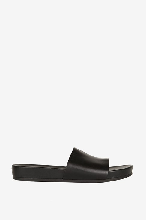 Sullie Leather Pool Slides