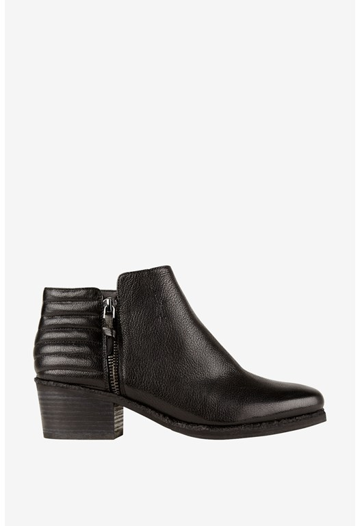 Trudy Textured Ankle Boots