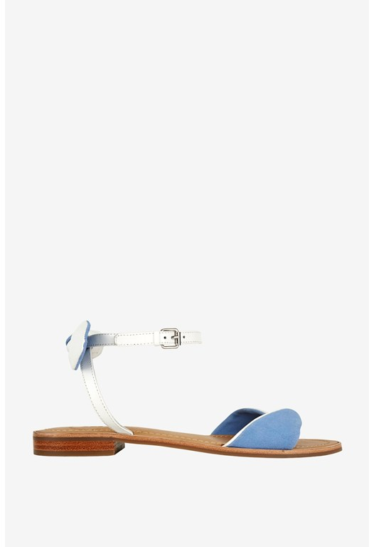 Hanson Leather Bow Detail Sandals