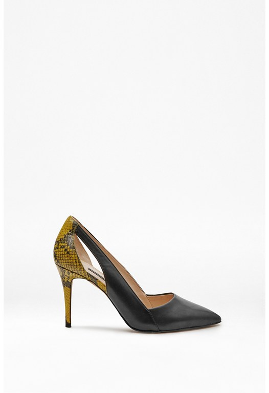 Elkin Snakeskin Leather Heels