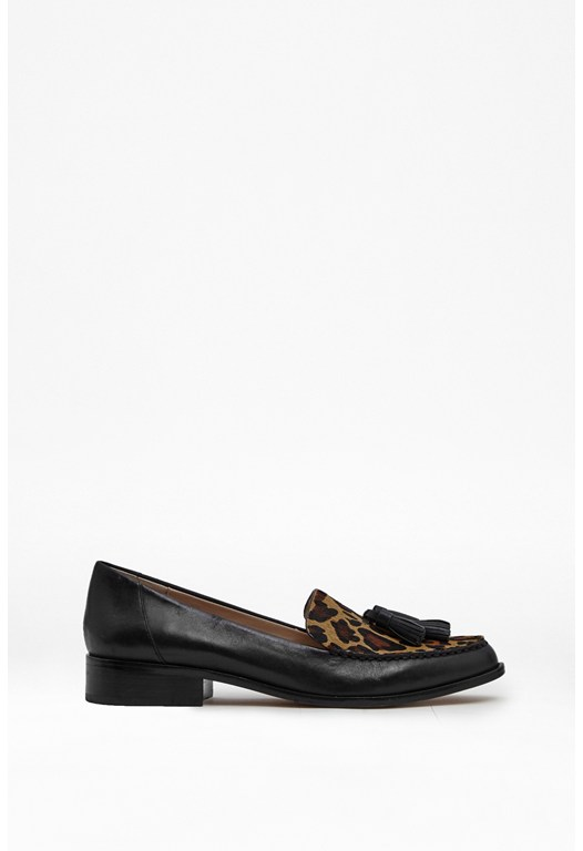 Lonnis Faux Ponyskin & Leather Loafers