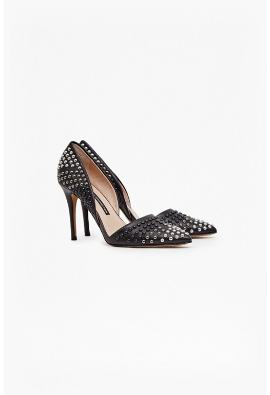 Ellis Studded Point Toe Heels