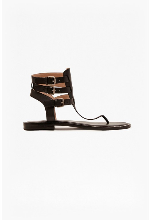 Imanna Leather Gladiator Sandals