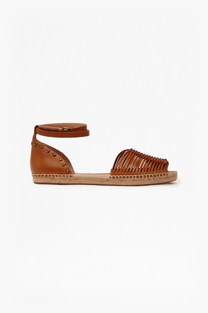 Usha Leather Espadrilles