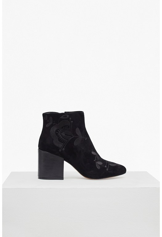 Dilya Embroidered Ankle Boot
