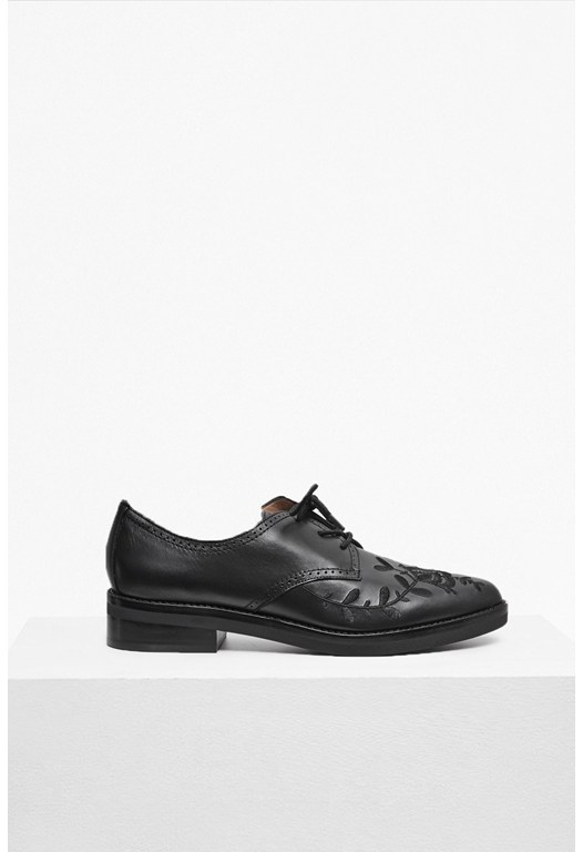 Maci Embroidered Leather Brogues