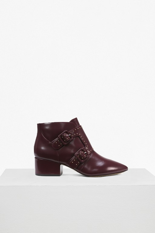 Complete the Look Roree Double Buckle Stud Leather Boots