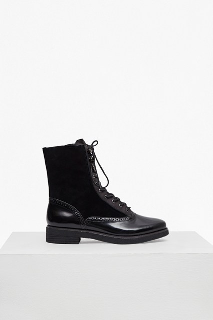 Vanja Lace Up Leather Boots