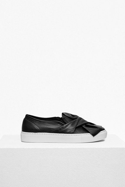 Simmie Bow Leather Trainers