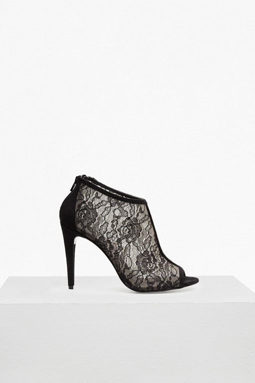 Complete the Look Quiana Peep Toe Bootie Heels