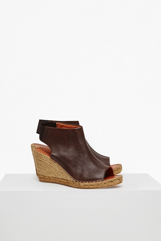 Complete the Look Avery Leather Espadrille Wedges