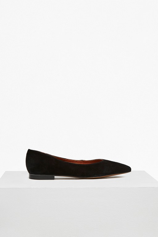 Complete the Look Naya High Vamp Suede Pointed Flats