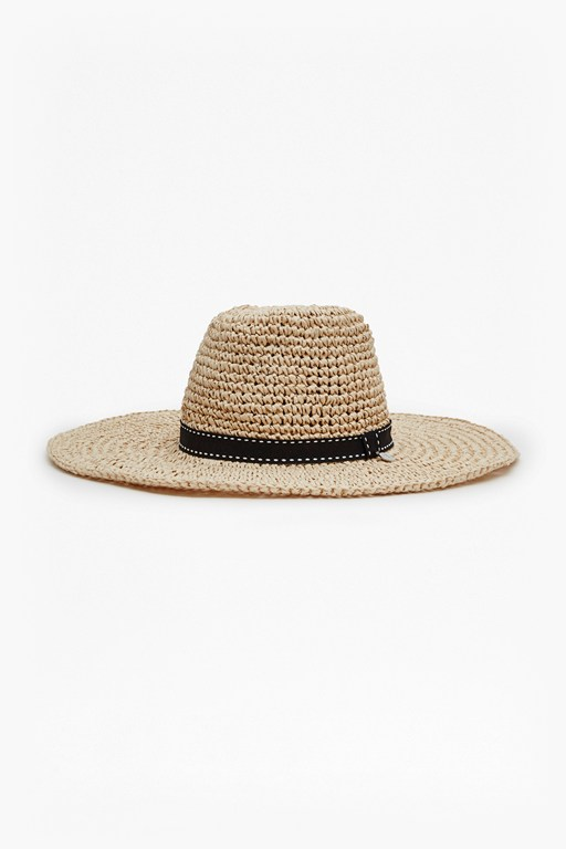Complete the Look Tina Ribbon Trim Foldaway Hat