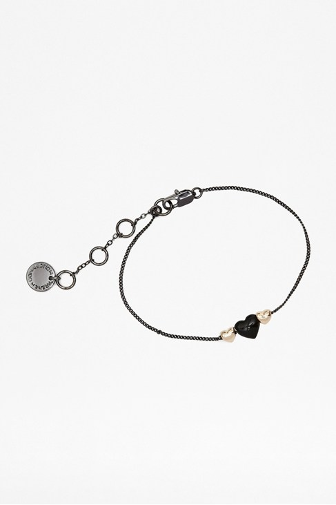 Double Mini Hearts Bracelet