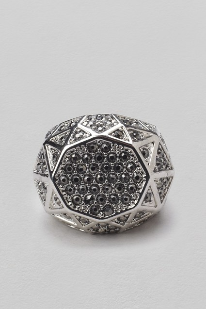 Hexagon Pave Ring