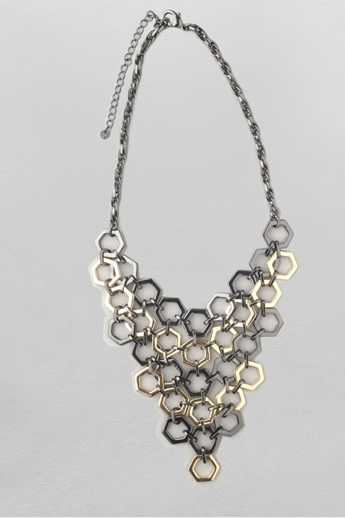 Hexagon Collar Necklace