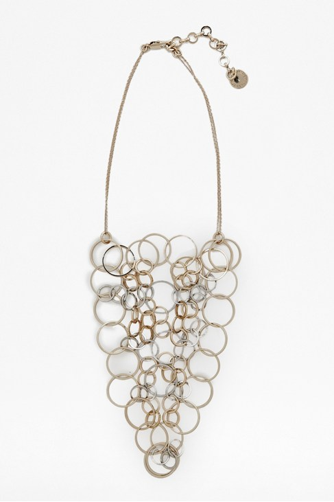 Squarecut Ring Necklace