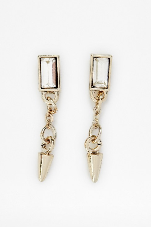 Spike & Baguette Stone Drop Earring