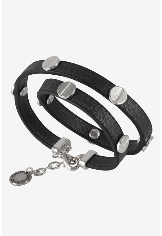 Double Wrap Screw-Headed Bracelet