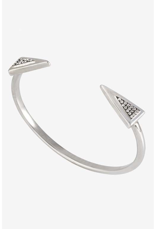 Mini Triangle Pave Detail Cuff