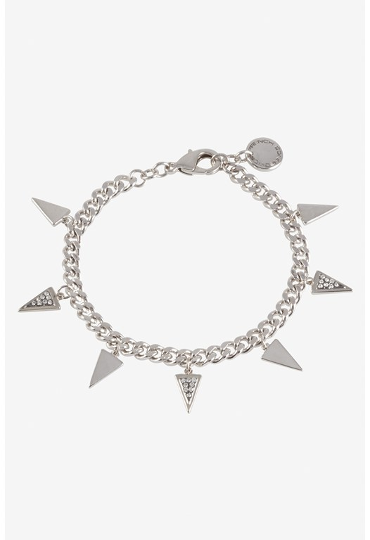 Triangle With Pave Detail Charm Bracelet