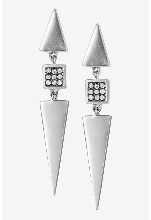 Mini Triangle Crystal Triple Stud