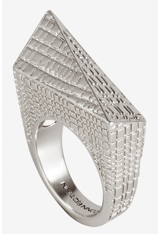 Elong Triangle Texture Shard Ring