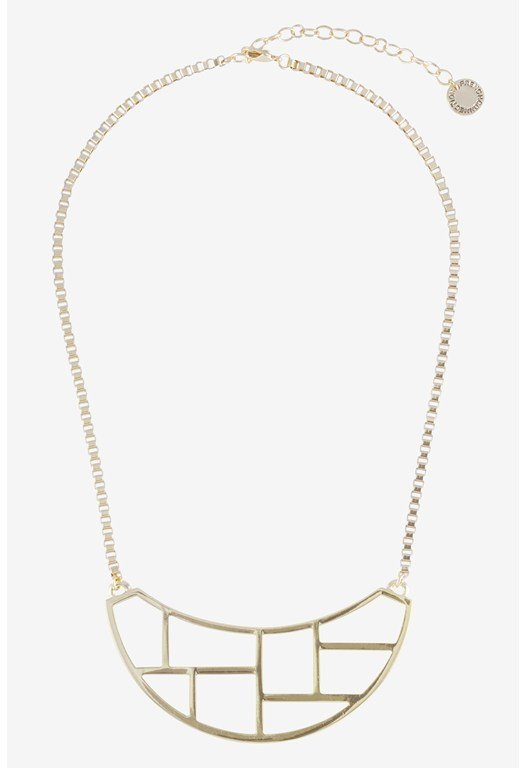 Cut Out Metal Frontal Necklace
