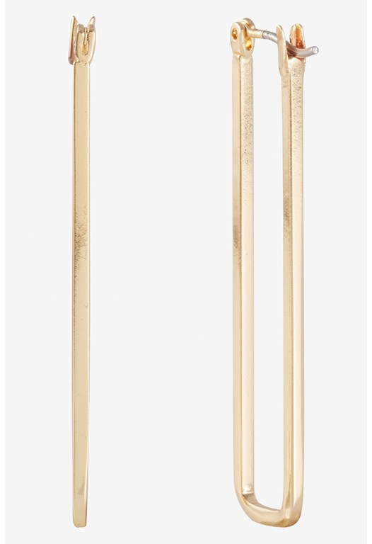 Squared Elongated Hoop Earrings
