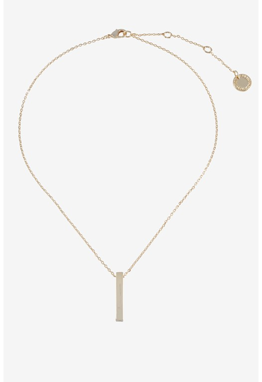 Rectangle Bar Pendent Necklace