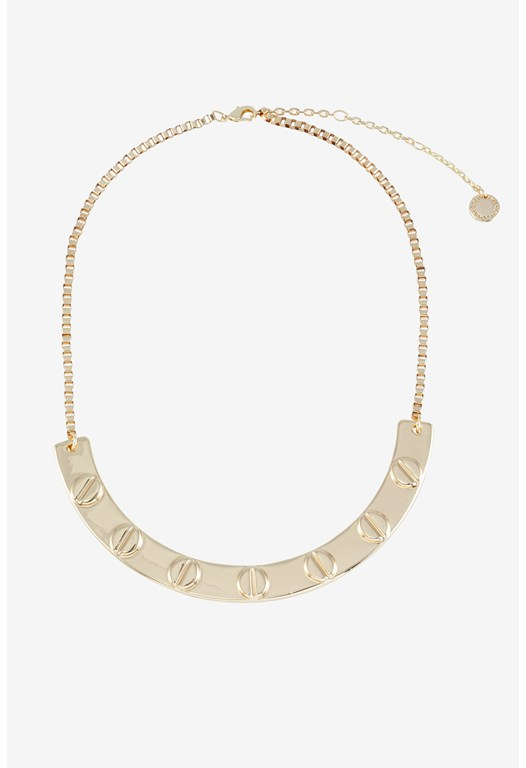 Studded Screw Head Necklace