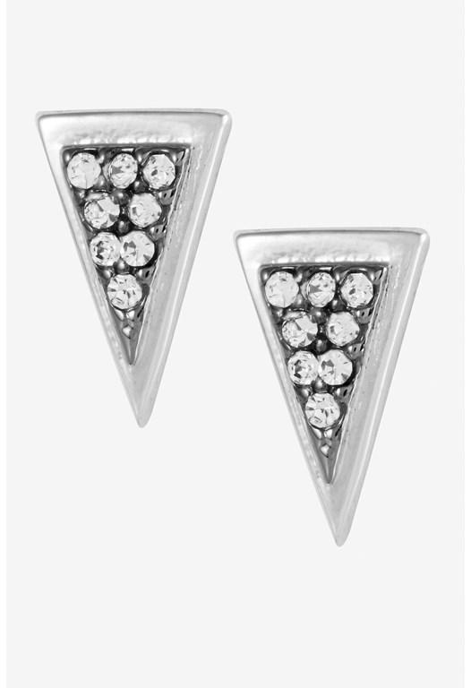 Mini Triangle Pave Detail Stud