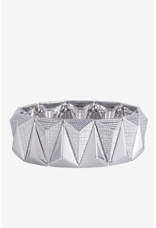 Textured Elongated Triangle Cuff