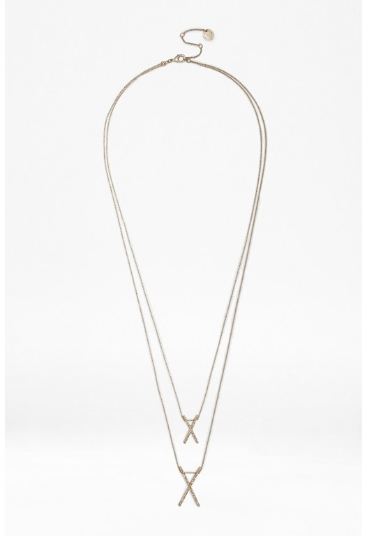 Double X Pendant Necklace