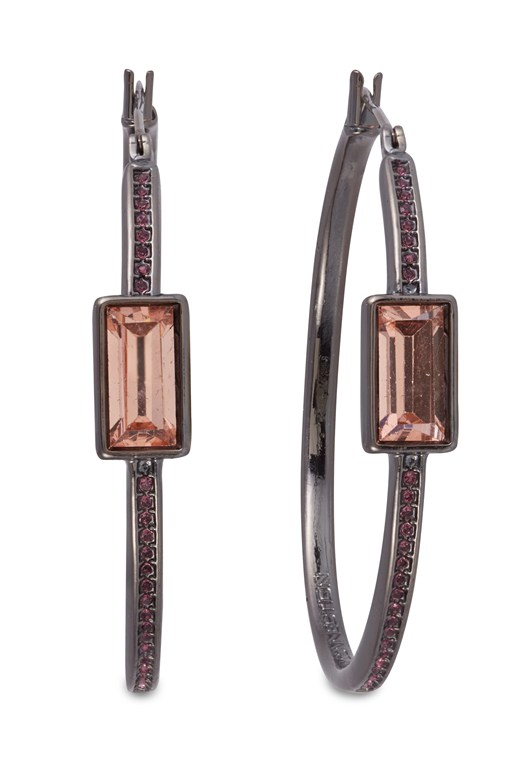 Single Baguette Stone Earrings