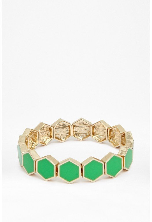 Hexagon Tile Bracelet