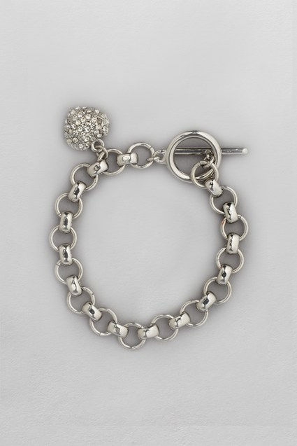Puffed Pave Heart Bracelet