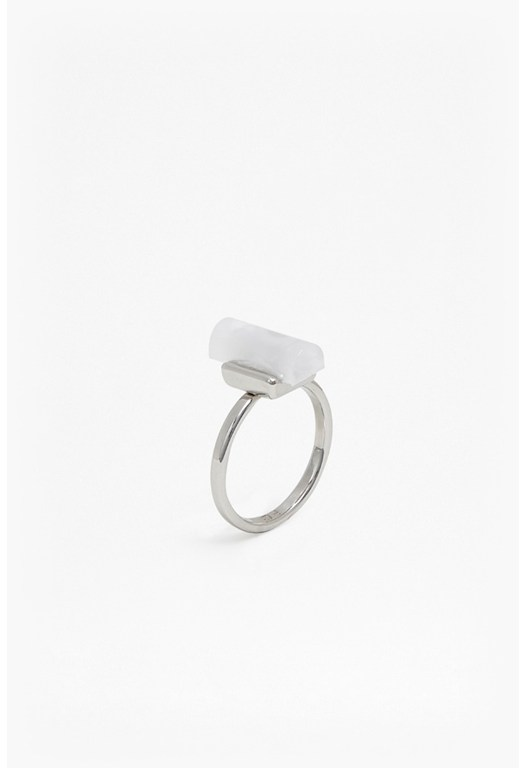 CYLINDER STONE INLAY RING