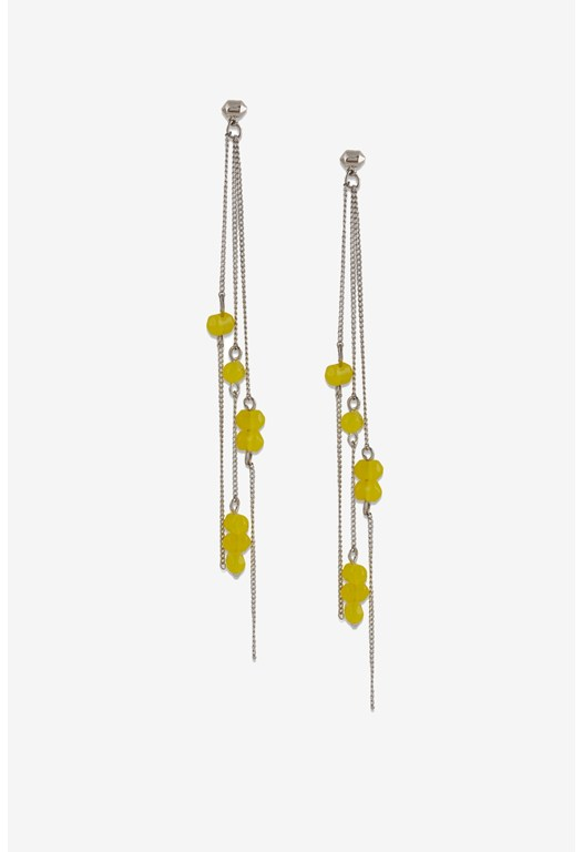 Linear Spiked Drop Earrings