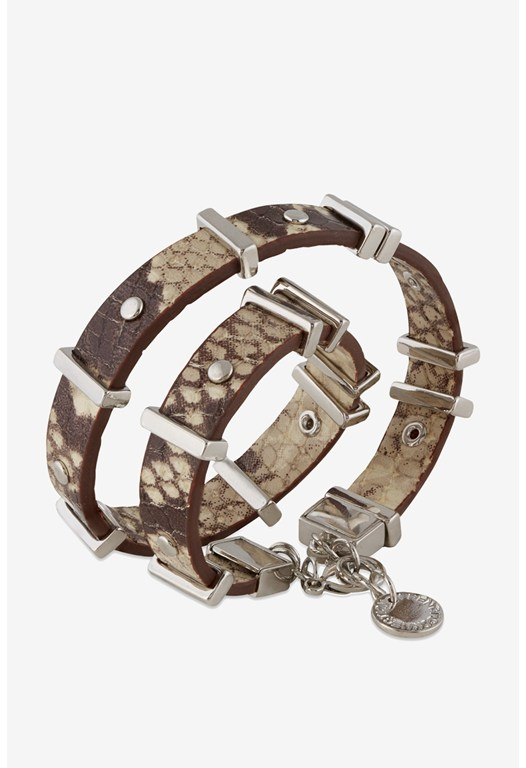 Riveted Leather Wrap Bracelet