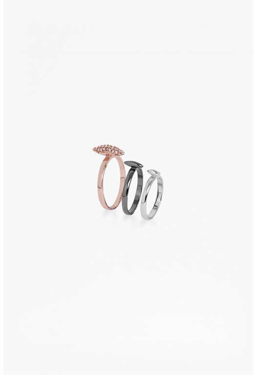 Spike Midi Ring Set