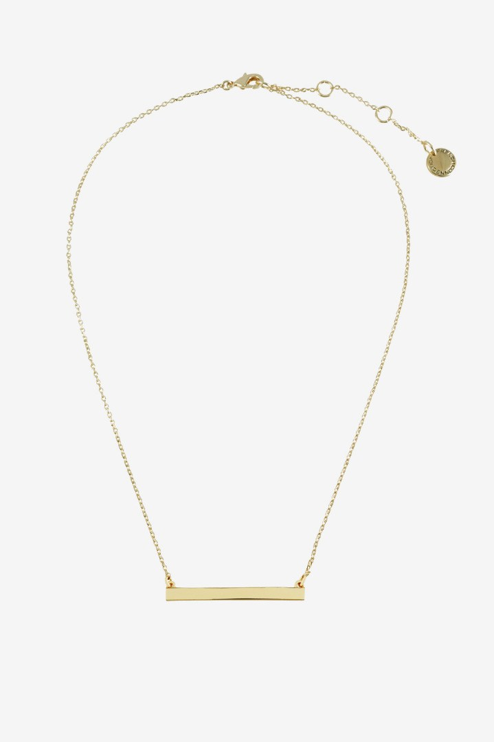 16 Bar Pendant Necklace