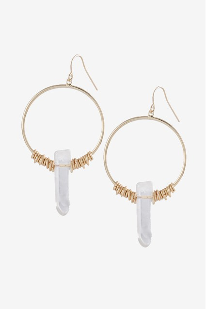 Dagger Gypsy Hoop Earrings