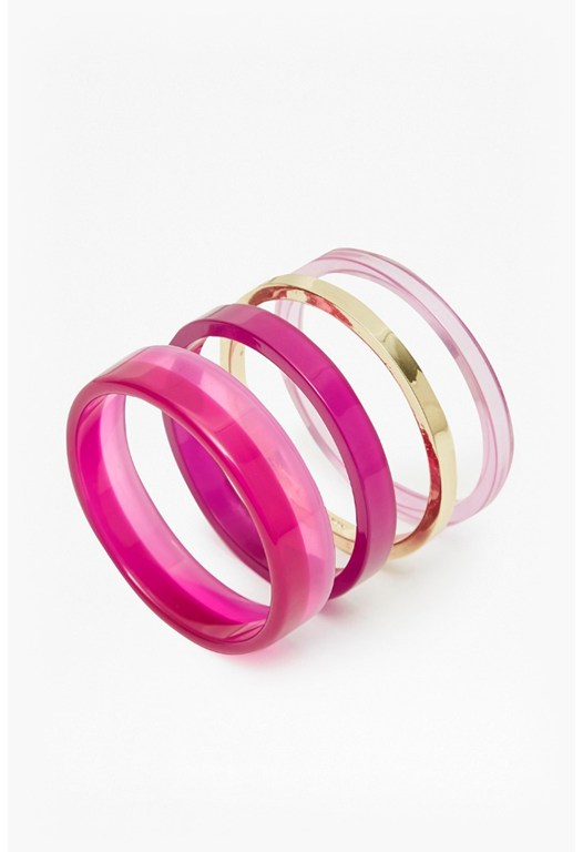 Colour Block Bangle Set